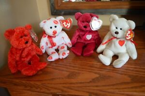 Ty Beanie Babies *Retired & Rare* - Set of 4 Valentine's Bears Sarnia Sarnia Area image 1