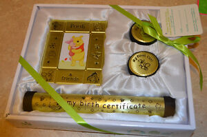 Wiine the pooh first tooth, first curl, frame and certificate