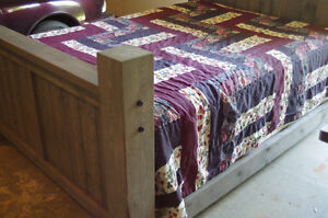 Brand New Custom Spruce Bed-Queen Size