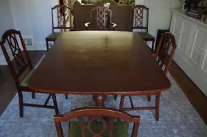 Dining table & chairs, Ikea bookcases & desks, dog crate & bed