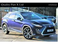 2016 Lexus RX 450H 3.5h V6 Luxury CVT 4WD (s/s) 5dr SUV Petrol/Electric Hybrid A