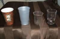 VARIOUS DISPOSABLE HIGH QUALITY  GLASSES & PLATES