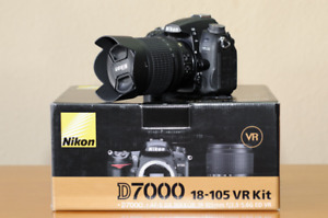 Nikon D7000 w/ 18-105mm Lens (Low Shutter w/ Box - Like new!)