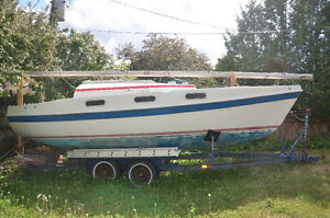 25 foot sailboat, Tanzer 7.5 with dual axle trailer