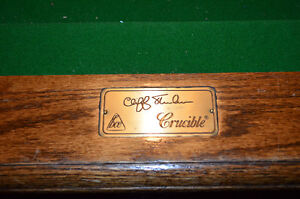 8' BCE Crucible Snooker Table Delivered and Installed.