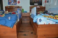 Boys bedroom set incl 2 captain style beds