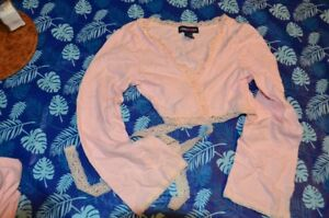 Pink Dance Cross over top / sweater - size 10