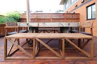 table extérieure sur mesure