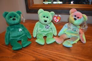 Ty Beanie Babies *Retired & Rare* - Set of 6 Bears