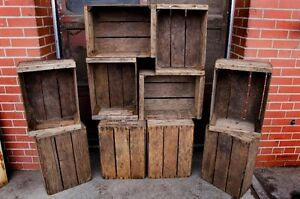 Old Wooden Crates and Boxes for Sale