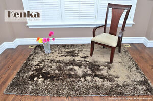 NEW MILANO GOLD BROWN SHAG RUG Free Delivery