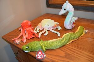 Ty Beanie Babies *Retired & Rare* - Set of 8 Ocean Creatures I