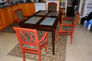 Dining table with 4 chairs $200 obo