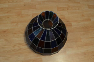 Stained Glass Ceiling Hanging Lamp Shade Tiffany style handmade Kitchener / Waterloo Kitchener Area image 5