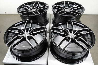 19 5X120 Staggered Black Polished Wheels Fits Bmw 1 3 4 Series 330 335 328 Rims
