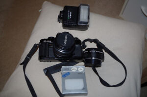 OLDER NON-DIGITAL CAMERA - 50 MM WITH EXTRAS