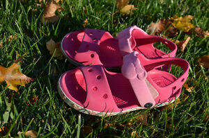 Girl Crocs sandals (kids size 12) 4-6 years