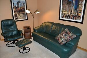 Leather Couch and Chair Regina Regina Area image 1