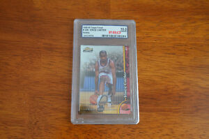 1998/99 Topps Finest Vince Carter Holographic Rookie Card #230