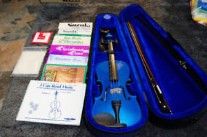 4/4 Metallic blue Violin
