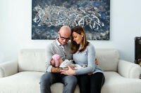 In Home Lifestyle New Born Baby Family Photo Session!