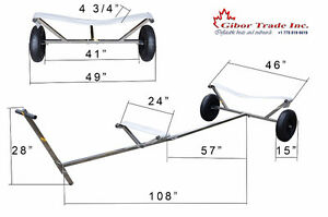 "NEW Stainless Steel Boat Dolly Trailer  15""x4"" wheels"