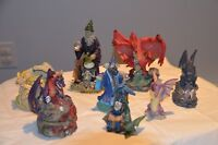 Dragons, Wizards, crystal  wizards,famous serpents Myths.. Xmas