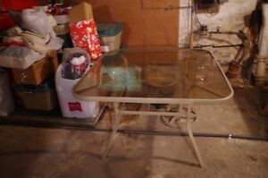 FOR SALE: TEMPERED GLASS PATIO TABLE