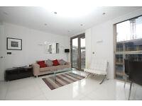 Stunning, modern & well located 2 bed -concierge, bike store, underfloor heating, balcony, mod cons!