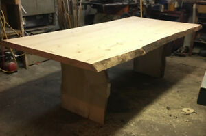 8ft harvest table and bench