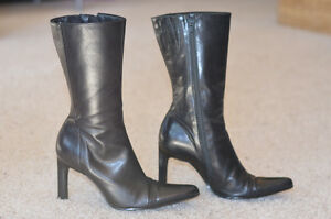 Ladies Black Leather Dress Boot Edmonton Edmonton Area image 3