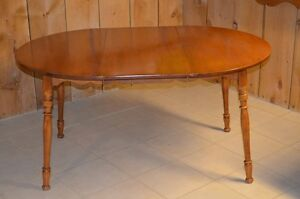 Solid Maple Roxton Dining Table with one leaf. $25