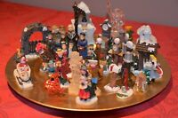 Xmas 2:Village miniature tray Med  3 in, small 2 in ht
