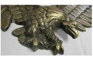 Vintage Metal Golden Eagle Wall Decor 28 Inch Wingspan