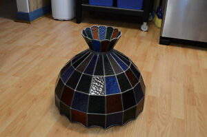 Stained Glass Ceiling Hanging Lamp Shade Tiffany style handmade Kitchener / Waterloo Kitchener Area image 4