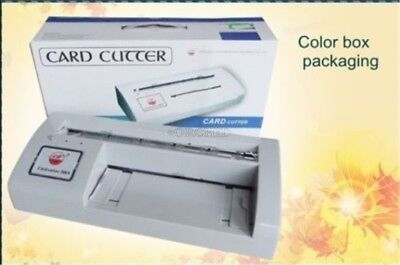 300b Automatic Name Card Slitter Business Card Cutting Machine Name Card Cutt Bq