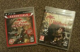 Dead Island GOTY Edition and Riptide PS3 Games