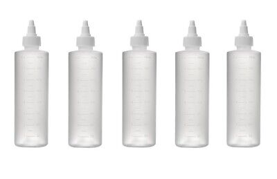 5 Pcs 8 Oz Twist Top Bottles Translucent Frosted With Measuring Scales Mold New