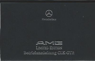 MERCEDES AMG CLK - GTR Betriebsanleitung 1999 Limited Edition 297 Handbuch BA
