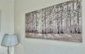 Large Laura Ashley Printed 'Trees' Canvas