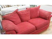 RED FABRIC SOFA BED,CAN DELIVER