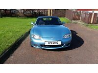 MAZDA MX5 FOR SALE 2002 COMPLETE WITH MATCHING BLUE HARDTOP