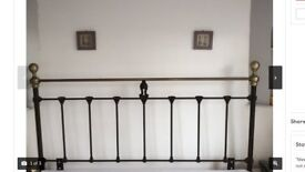 Black and Brass Metal Headboard . Change of décor forces sale. Uplift £25
