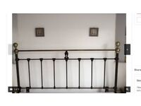 Black and Brass headboard - perfect condition