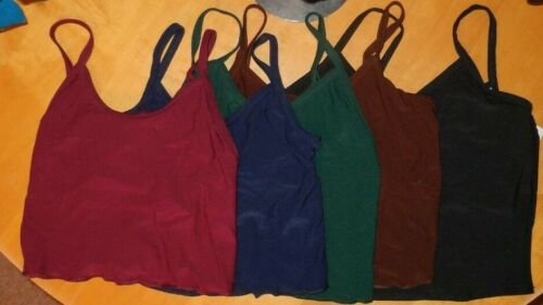 Camisole DANCE TOPS shelf lined front back spandex Child or Adult Sizes  NWT