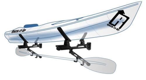 Set of 8 Kayak , Wave Ski , Raceboard SUP Rack It Up Kayak Wall Black Rack NEW