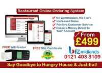 Restaurant Online Ordering System only From £499 NO COMMISSION!!! NO FEES!!!