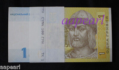 a bundle of 100pcs Ukraine Banknotes real paper money brand new Uncirculated