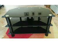 "Black glass tv stand for up to 32"" tv"