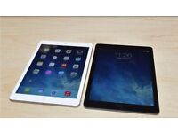 APPLE IPAD AIR 4G WIFI IN WHITE AND BLACK COMES WITH CHARGER AND THREE MONTHS WARRANTY
